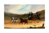 William Lee and Co's Rockingham-Leeds-London Coach Giclee Print by Benjamin Herring