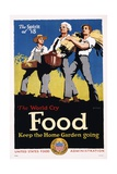 Food - Keep the Home Garden Going Poster Giclee Print by William McKee
