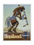 Hopiland Santa Fe Railway Poster Giclee Print