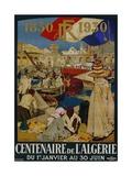 Centenaire De L'Algerie Poster Giclée-tryk af Leon Cauvy