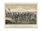 The Generals of the Confederate Army Reproduction procédé giclée