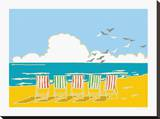 Summer Bay I Stretched Canvas Print by Emily Burningham