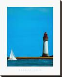 To The Lighthouse Stretched Canvas Print by Barbara James