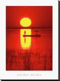 Amber Silhouette Stretched Canvas Print by Jon Hart Gardey
