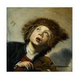 A Boy with a Violin Giclee Print by Frans Hals the Elder
