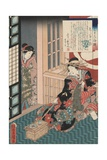 Tale of the Courtesan Shiratama Giclee Print by Utagawa Toyokuni