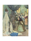 Illustration Depicting Fairy Uglyane Casting a Spell Giclee Print by Edmund Dulac