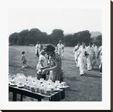 Cricket Near Lewes Sussex Stretched Canvas Print by John Gay
