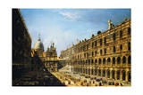 View of the Courtyard of the Palazzo Ducale in Venice Giclee Print by Michele Marieschi