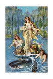 Postcard of Alaska-Yukon-Pacific Allegorical Painting Giclee Print by C.A. Holland