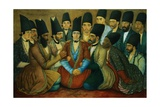A Young Qajar Prince and His Entourage Giclee Print by Abu'l Hasan