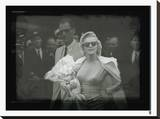 Marilyn Monroe IX Stretched Canvas Print by  British Pathe