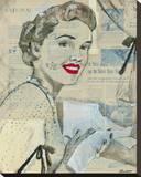 Feminine Mystique IV Stretched Canvas Print by  Lorello