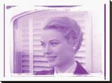 Grace Kelly X In Colour Stretched Canvas Print by  British Pathe