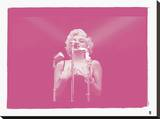 Marilyn Monroe VIII In Colour Stretched Canvas Print by  British Pathe