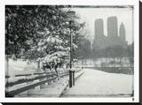 New York City In Winter VIII Stretched Canvas Print by  British Pathe