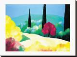 Jardin D'Automne Stretched Canvas Print by Bernard Payet