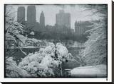 New York City In Winter IX Stretched Canvas Print by  British Pathe