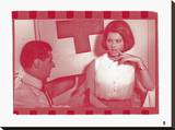Sophia Loren V In Colour Stretched Canvas Print by  British Pathe