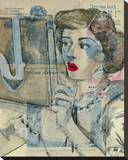 Feminine Mystique II Stretched Canvas Print by  Lorello