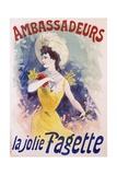 Ambassadeurs: La Jolie Fagette Poster Giclee Print by Jules Chéret