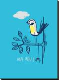 Hey You! Stretched Canvas Print by Laure Girardin-Vissian