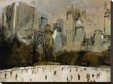 Winter In Manhattan Stretched Canvas Print by  Georgie