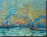 Afterglow Stretched Canvas Print by Jonas Lie