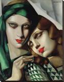 The Green Turban Stretched Canvas Print by Tamara de Lempicka