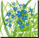Flower Applique III Stretched Canvas Print by Laure Girardin-Vissian