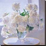 Peonies, Morning Light Reproduction sur toile tendue par Valeriy Chuikov