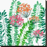 Flower Applique IV Stretched Canvas Print by Laure Girardin-Vissian