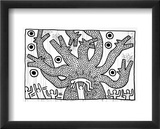 Untitled, 1982 Indrammet giclee-tryk af Keith Haring