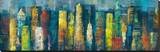 City Towers I Stretched Canvas Print by Georges Generali