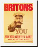 Britons: Your Country Needs You! Stretched Canvas Print by  The Vintage Collection