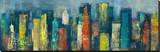 City Towers II Stretched Canvas Print by Georges Generali