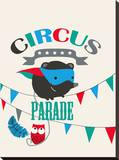 Circus Parade II Stretched Canvas Print by Laure Girardin-Vissian
