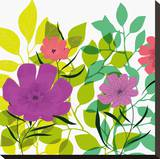 Flower Applique I Stretched Canvas Print by Laure Girardin-Vissian