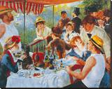 Luncheon Of The Boating Party Stretched Canvas Print by Pierre-Auguste Renoir