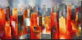 Metropolis Vista I Stretched Canvas Print by Georges Generali