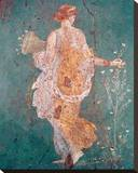 Pompeii Fresco II Stretched Canvas Print