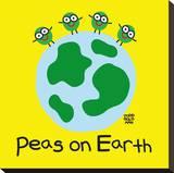 Peas On Earth Trykk på strukket lerret av Todd Goldman