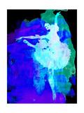 Purple Ballerina Watercolor Prints by Irina March