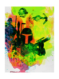 Star Warriors Watercolor 3 Print by Anna Malkin