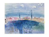 The Old Port of Marseille, 1925 Gicléetryck av Raoul Dufy