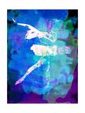 White Ballerina Watercolor Art by Irina March