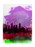 Sydney Watercolor Skyline 2 Posters by  NaxArt