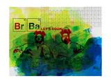 Br Ba Watercolor 1 Kunstdruck von Anna Malkin