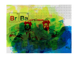 Br Ba Watercolor 1 Print by Anna Malkin