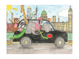 London Taxi Giclee Print by Milly Green